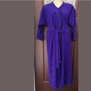 VTG 60s Vanity Fair Purple Black Robe Housecoat M